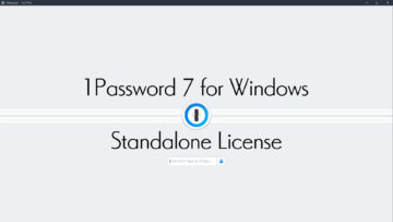 1Password 7 for Windows スタンドアロンライセンス 購入