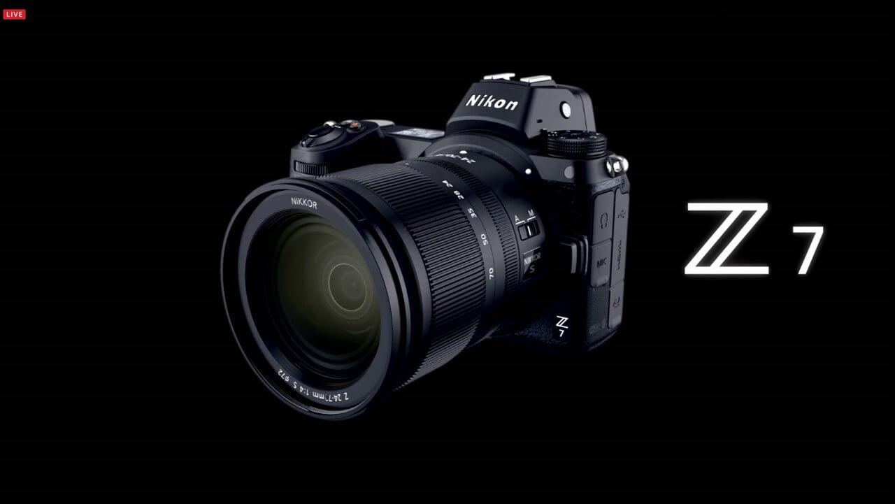 Nikon Z7発表!ニコン初のフルサイズミラーレスカメラ、価格は44万円で9月下旬発売