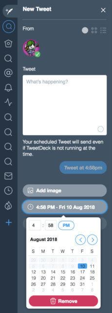 TweetDeck スケジュールの使い方