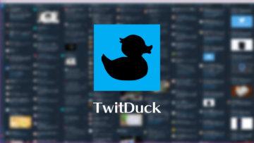 Web版のTweetdeckを表示するだけのアプリ「TwitDuck」がシンプルでよい