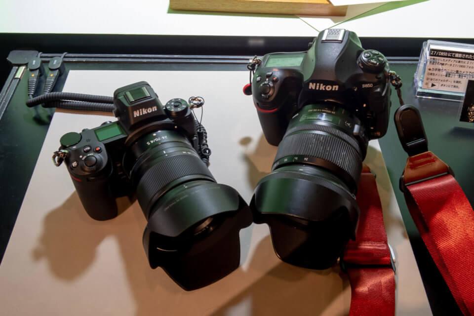 Nikon Z7とD850のサイズを比較
