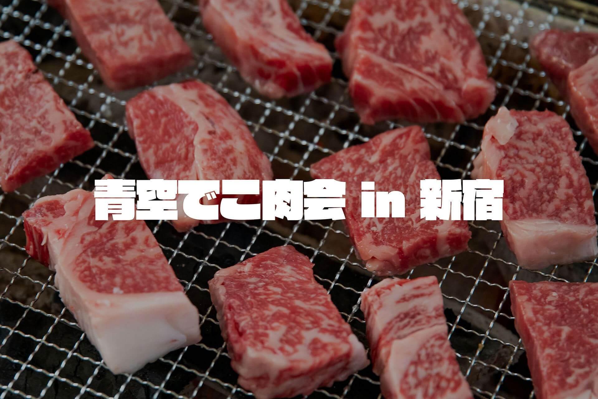 新宿駅直結のBBQ場でほぼ肉オンリーの「青空でこ肉会」やってきた
