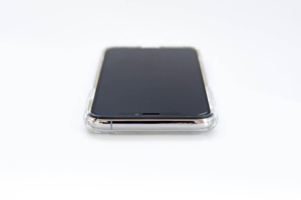 iPhone XS リキッド・クリスタル 上部