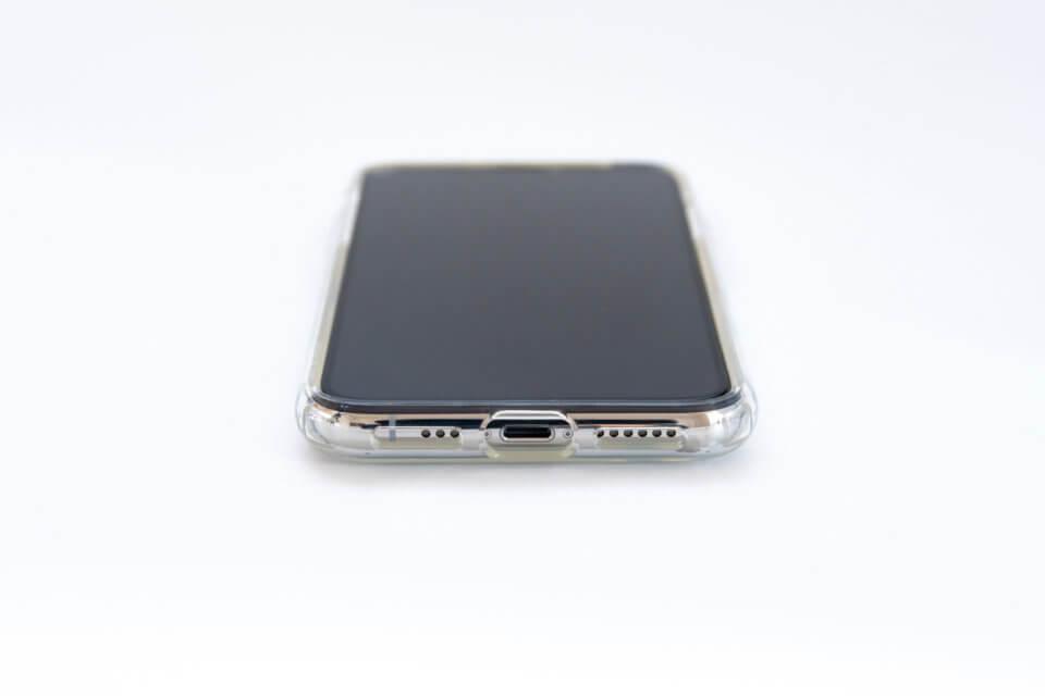 iPhone XS リキッド・クリスタル 底部