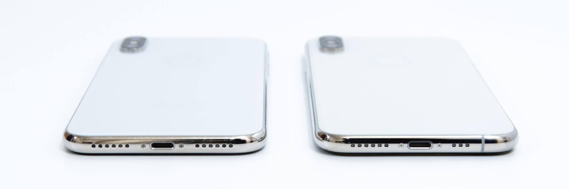 iPhone XS iPhone 外観比較 下部