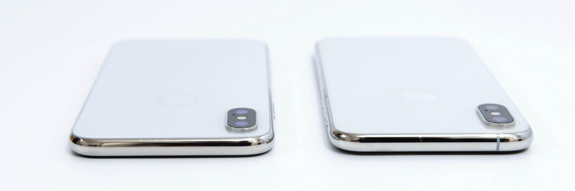 iPhone XS iPhone 外観比較 上部