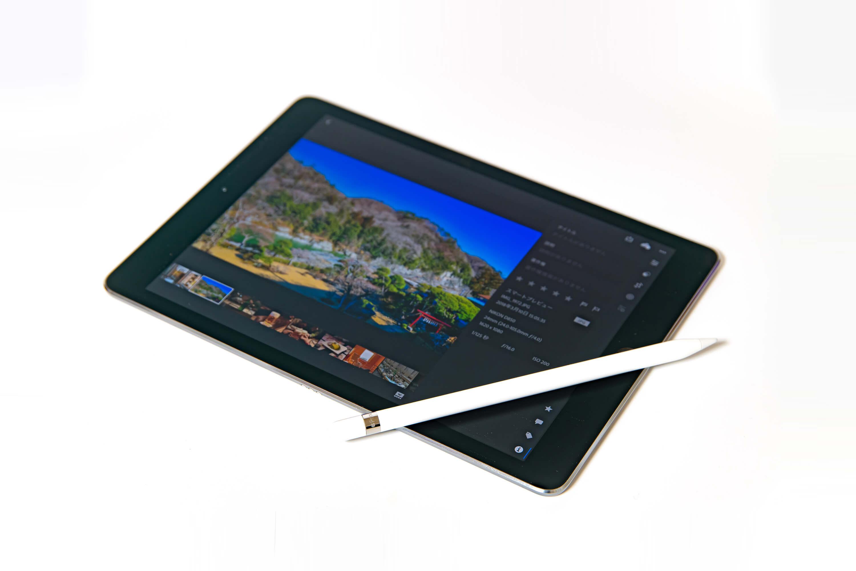 9.7インチ iPad Pro Wi-Fi 写真のレタッチ