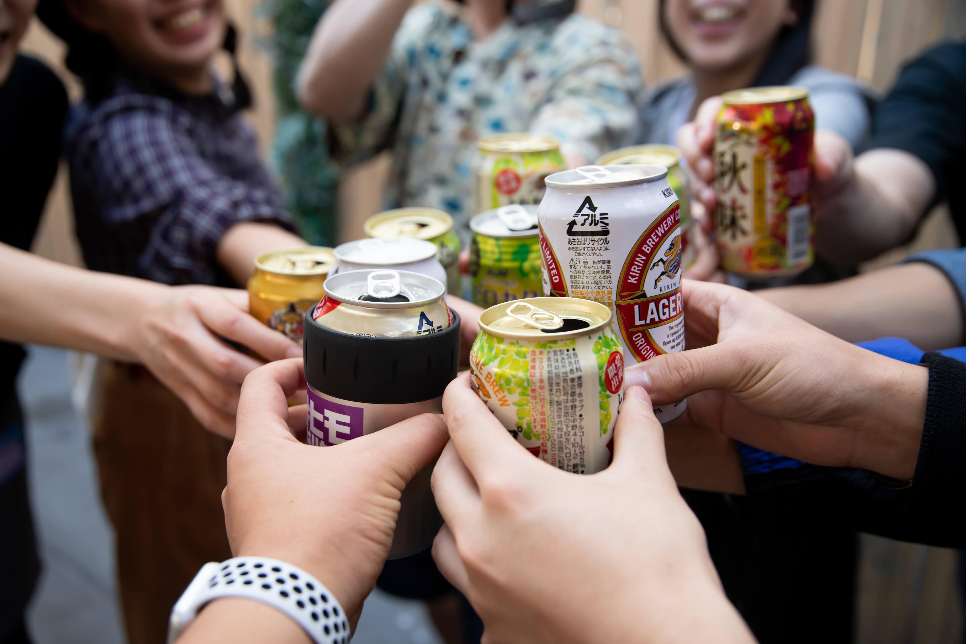 新宿FlagsBBQ&ビアガーデン ビールで乾杯
