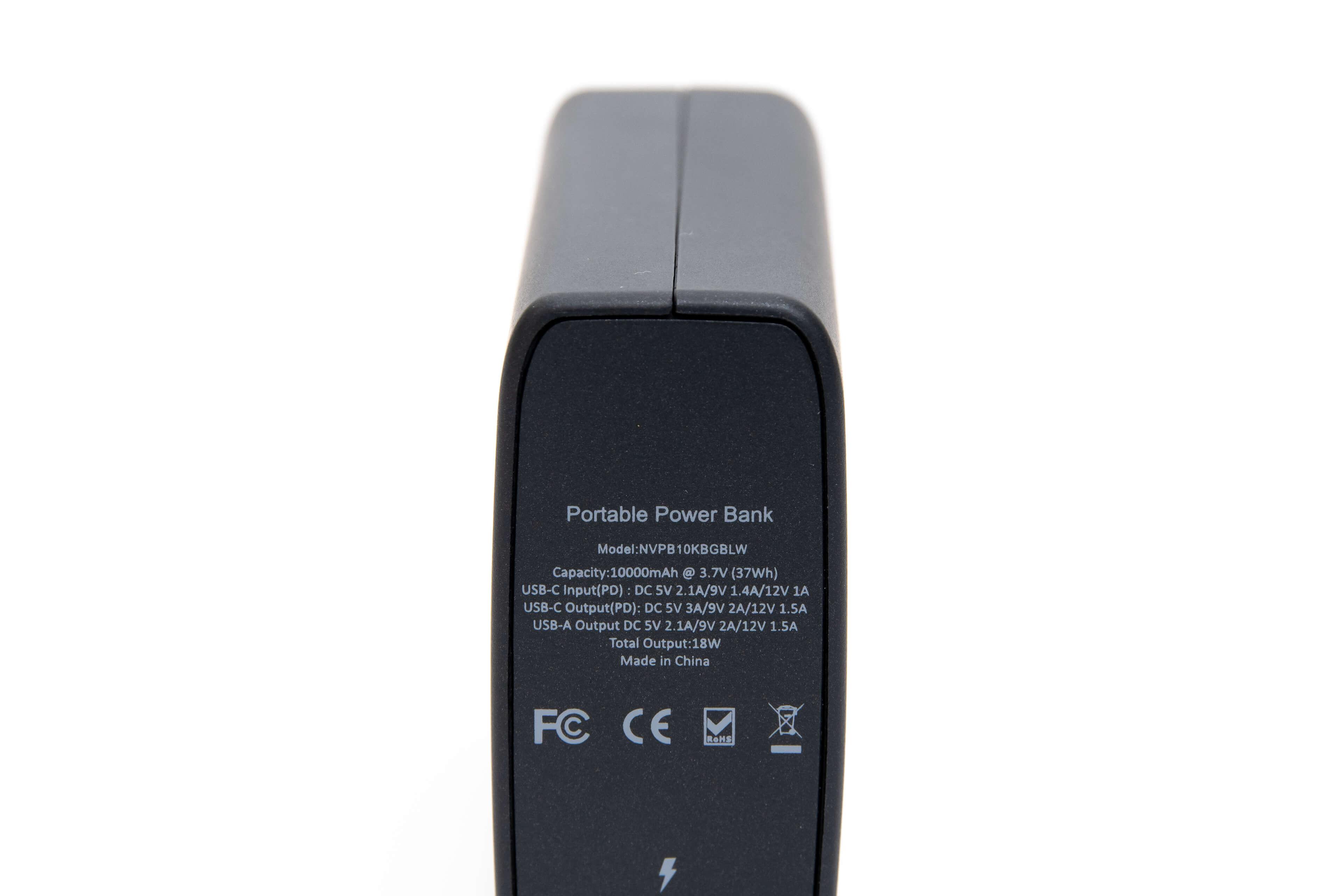 USB PD モバイルバッテリー Novoo PowerCube PSEマークはない