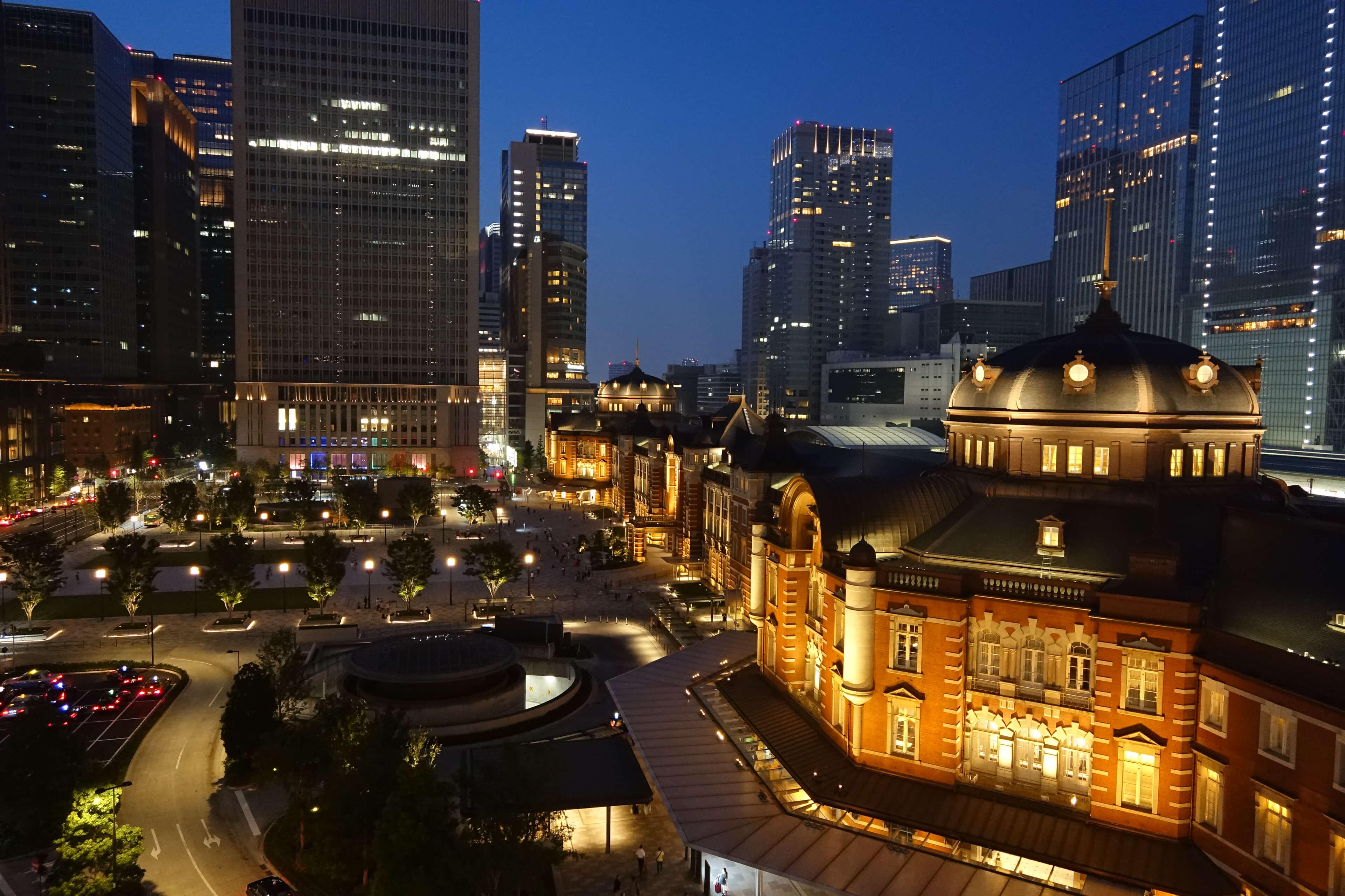 SONY RX0 レビュー 作例 東京駅の夜景