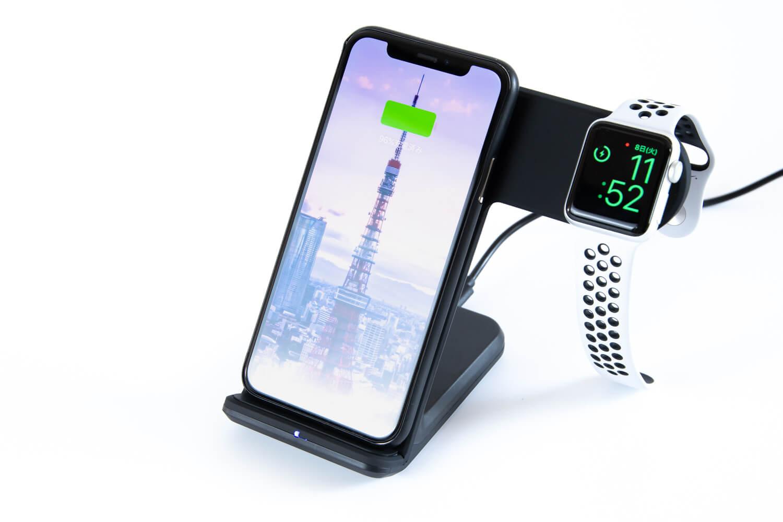 iPhoneとApple Watchを同時充電できるQiワイヤレス充電器をレビュー