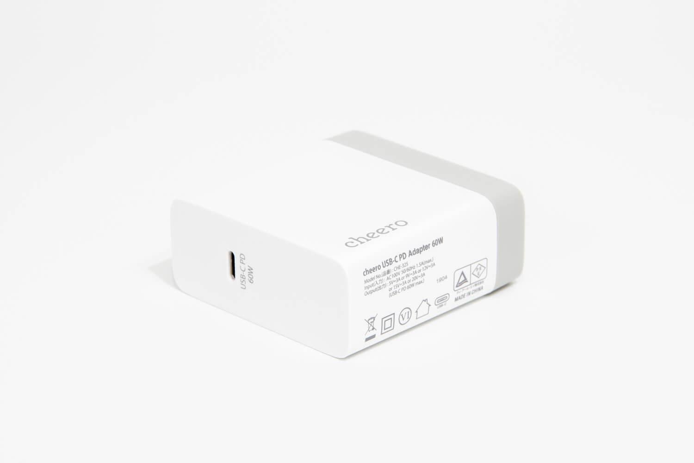 お手頃価格なUSB PD充電器「cheero USB-C PD Charger 60W」 レビュー