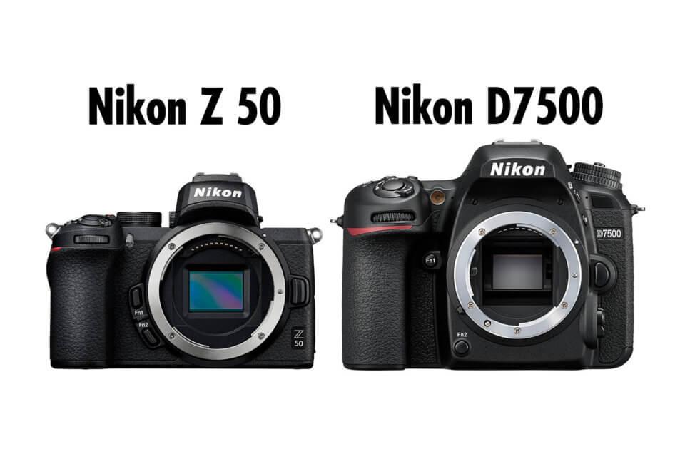 Nikon Z 50とD7500のスペックを比較