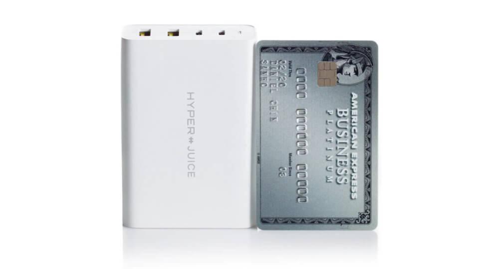GaN採用でクレカサイズの100W USB PD充電器「HyperJuice」がプロジェクトをスタート