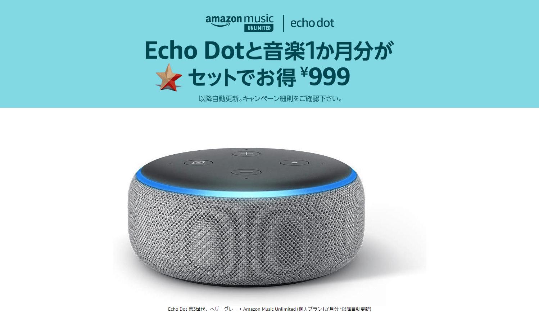 ラストチャンス!実質219円のEcho Dot、ヘザーグレーのみ在庫あり