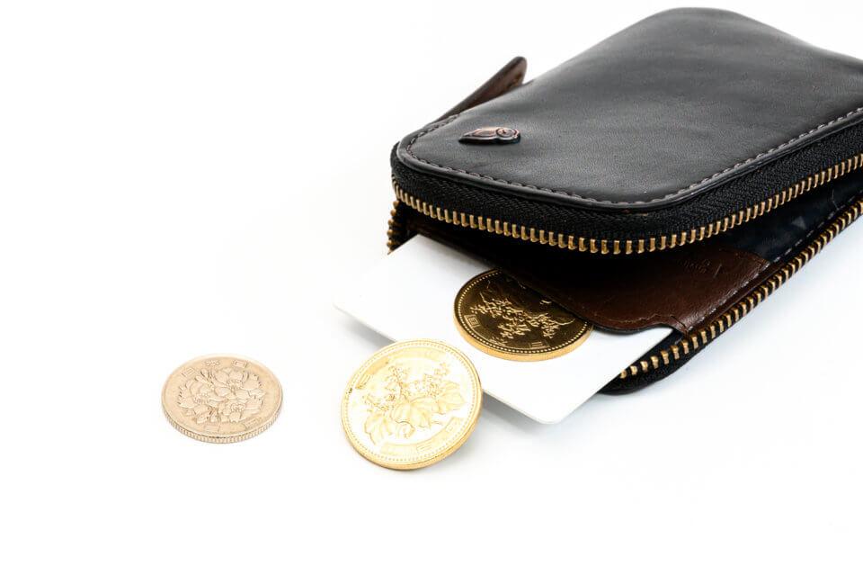 Bellroy(ベルロイ) Card PocketにICカードと小銭を収納したところ