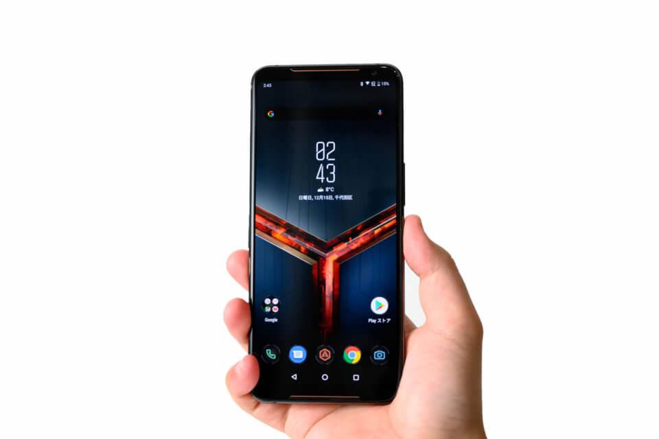 ROG Phone II を持ったところ