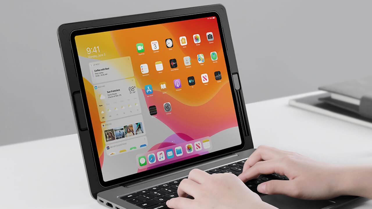 iPad ProをMacbookのように使えるキーボード付きドック「doqo」