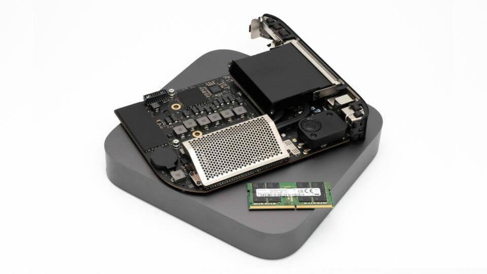 Mac mini 2020年モデルのメモリを換装・増設する手順