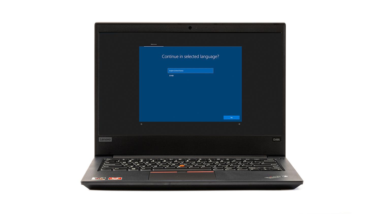 Lenovo公式のリカバリーメディアを使ってシステムの復元をする