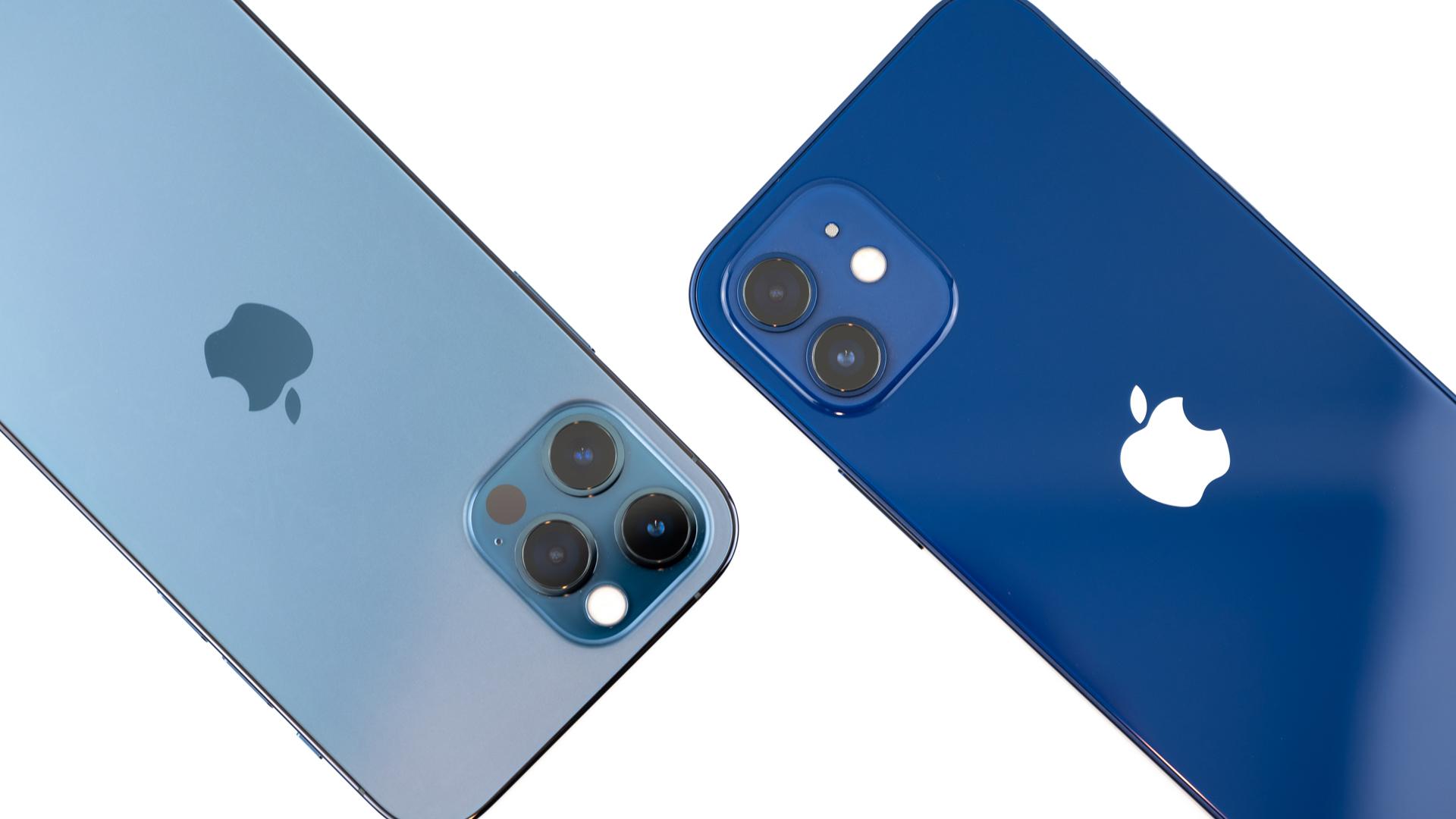 iPhone 12 ブルーとiPhone 12 Pro パシフィックブルーの色を比較してみた