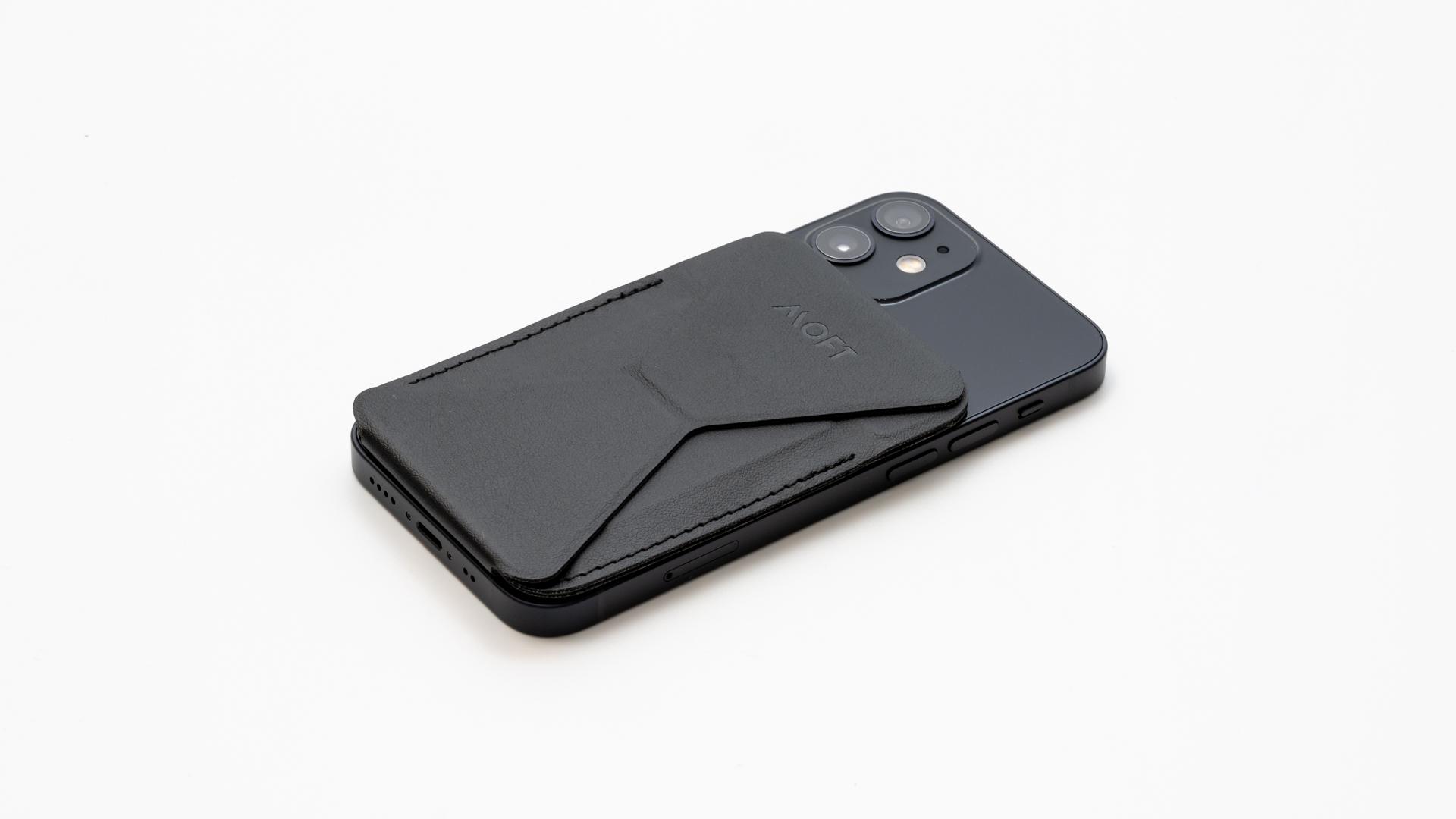 MagSafe対応の「MOFT Snap-on Stand & Wallet」がiPhone 12 miniにピッタリでいい感じ