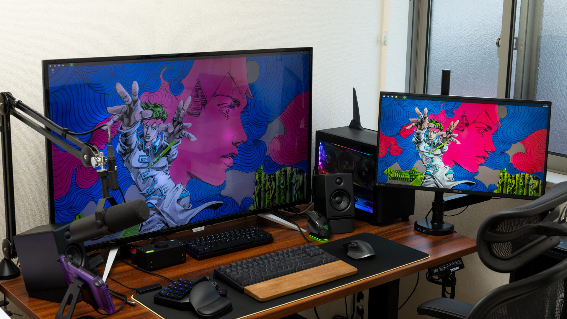 デスクツアー2021。43インチ4K+144Hzのデュアルモニターで作業もゲームも快適なデスク環境を紹介